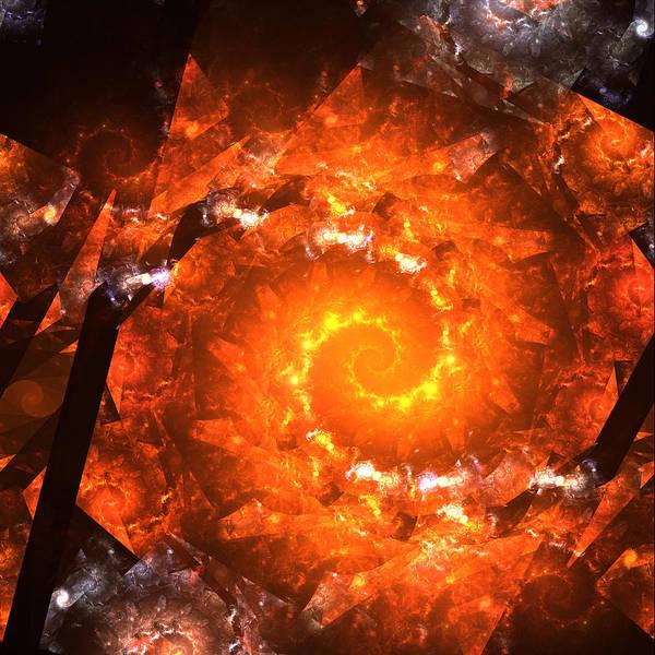 Zero Gravitation Universe Black Hole Super Nova Explosion Star Stars Born Time Print featuring the digital art Gravitation Zero by Stefan Kuhn