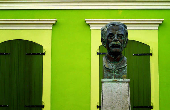 Bust Print featuring the photograph Green by Mauricio Jimenez