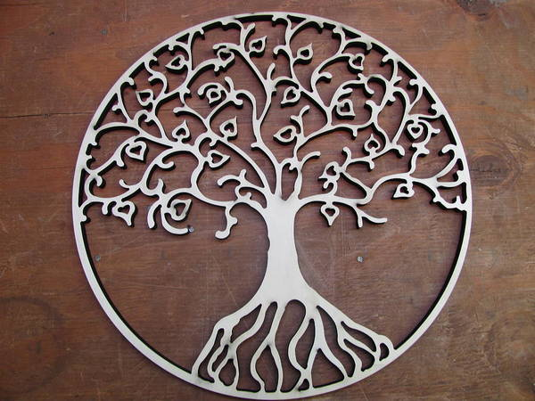 Wood Print featuring the sculpture Heart-fruit Tree by Keith Cichlar