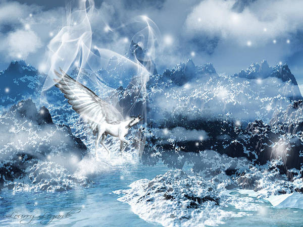 Unicorn Print featuring the photograph Heavenly Interlude by Lourry Legarde