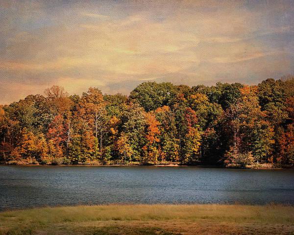 Autumn Print featuring the photograph Hidden Cove by Jai Johnson