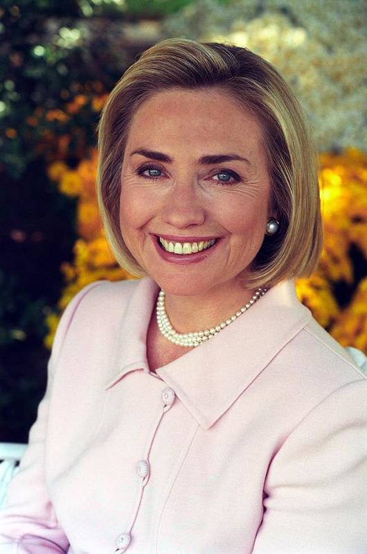 Hillary Rodham Clinton In A White House Print by Everett