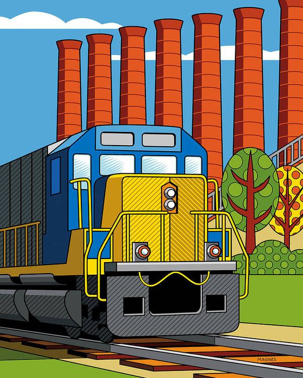 Pittsburgh Print featuring the digital art Homestead Stacks by Ron Magnes
