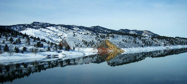 Lake Print featuring the photograph Horsetooth Reflections by Julie Magers Soulen