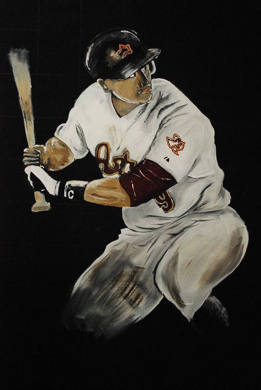 Hunter Pence Print featuring the painting Hunter Pence 2 by Leo Artist