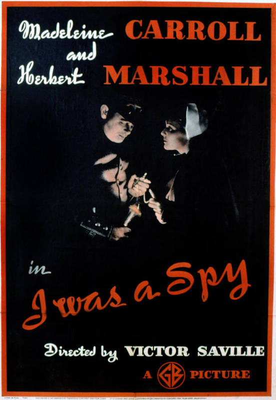 1930s Movies Print featuring the photograph I Was A Spy, Herbert Marshall by Everett