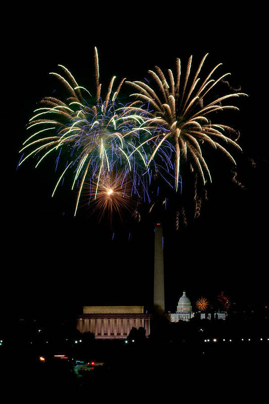 4th Of July Print featuring the photograph Independence Day In Dc by David Hahn