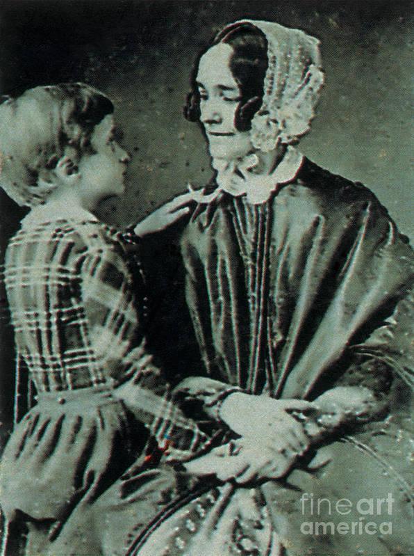 Jane Means Appleton Pierce Print featuring the photograph Jane Pierce by Photo Researchers