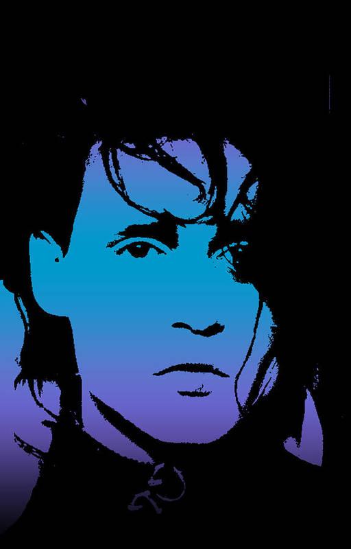 Johnny Print featuring the digital art Johnny As Edward by Jera Sky