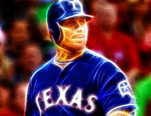 Joshua Hamilton Print featuring the painting Josh Hamilton Magical by Paul Van Scott