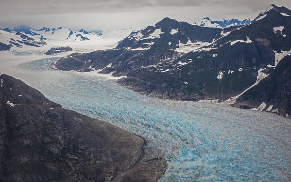 Frederick Sound Print featuring the photograph Leconte Glacial Flow by Mike Reid