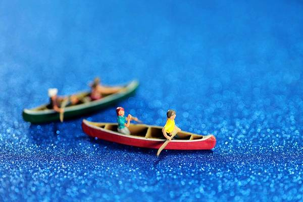 Surreal Print featuring the photograph Let's Boating Together by Paul Ge