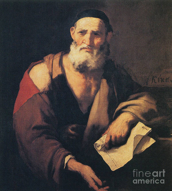Science Print featuring the photograph Leucippus, Ancient Greek Philosopher by Science Source