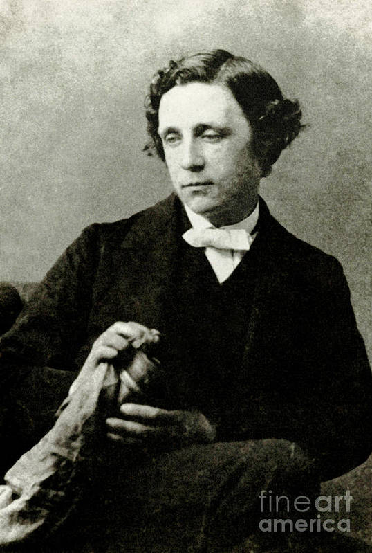 Alice In Wonderland Print featuring the photograph Lewis Carroll, English Author by Photo Researchers