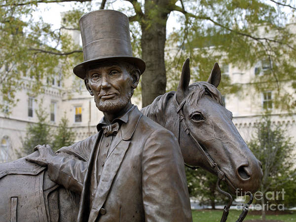 2008 Print featuring the photograph Lincoln Statue, 2008 by Granger