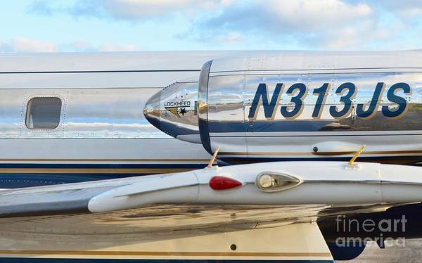 Lockheed Print featuring the photograph Lockheed Jet Star Engine by Lynda Dawson-Youngclaus