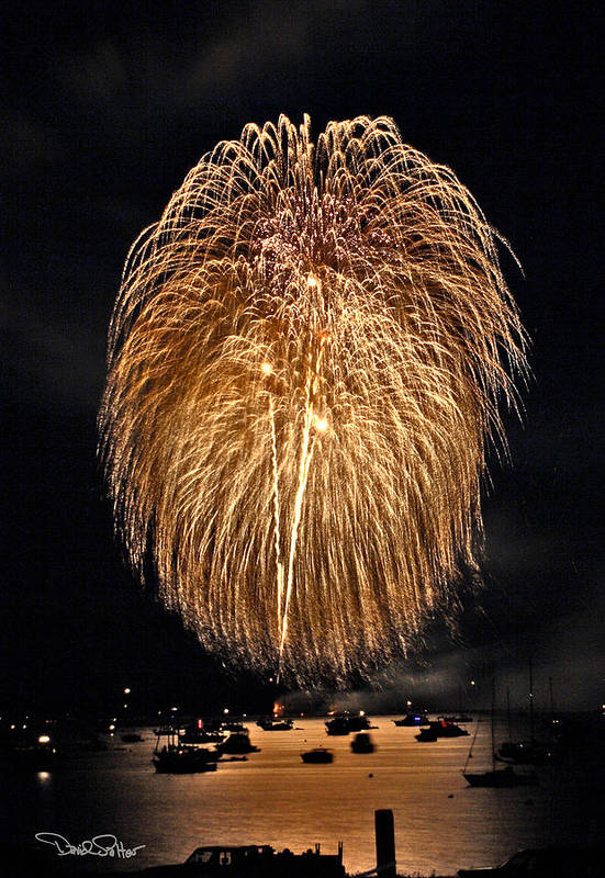 4th Of July Print featuring the photograph Lopez Island Fireworks 1 by David Salter