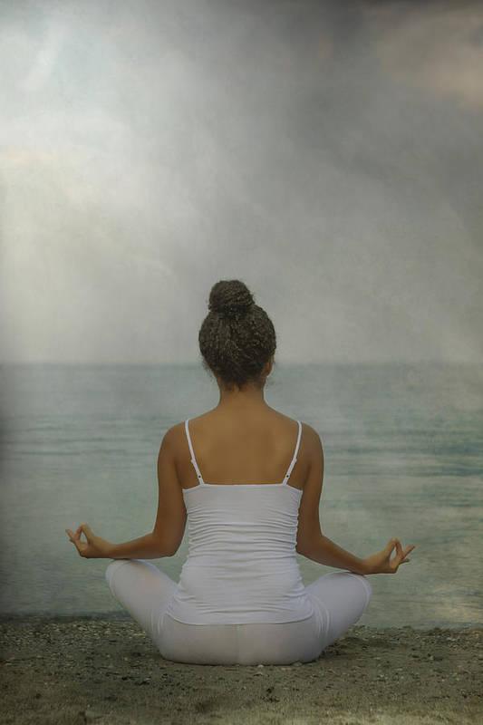 Female Print featuring the photograph Meditation by Joana Kruse