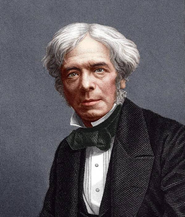 Faraday Print featuring the photograph Michael Faraday, English Chemist by Sheila Terry