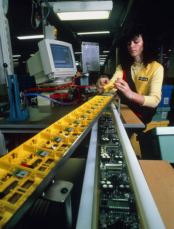 Lego Manufacture Print featuring the photograph Mindstorm Programmable Lego Brick Manufacture by Volker Steger