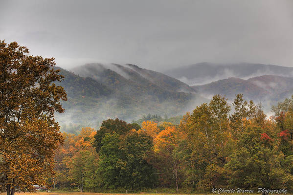 Mountains Print featuring the photograph Misty Morning Iv by Charles Warren