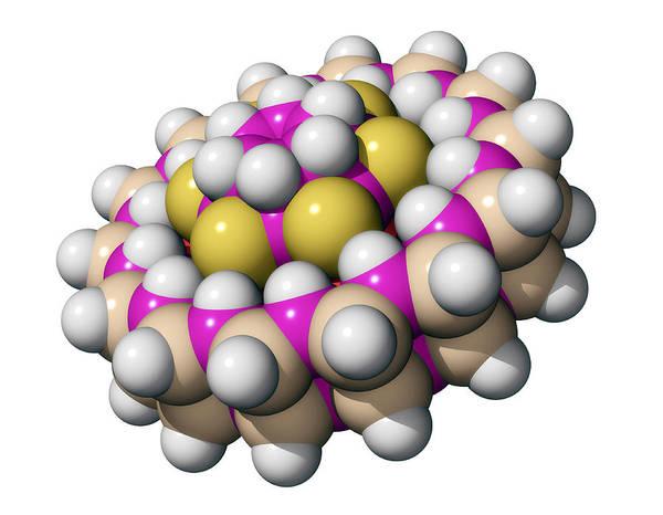 Molecule Print featuring the photograph Molecular Bearing, Computer Model by Laguna Design