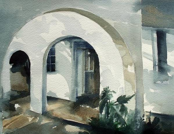 Mombasa Print featuring the painting Mombasa Archway by Stephanie Aarons