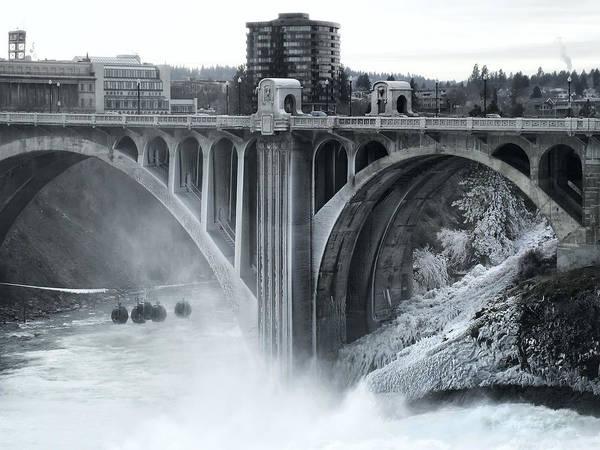 Spokane Print featuring the photograph Monroe St Bridge 2 - Spokane Washington by Daniel Hagerman