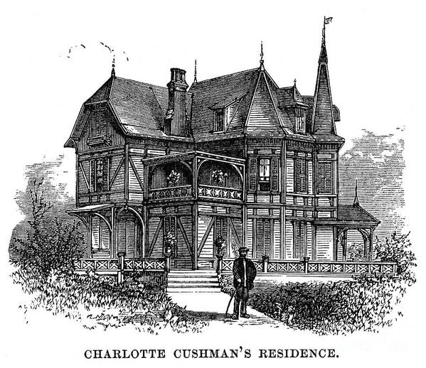 1875 Print featuring the photograph Newport Cottage by Granger