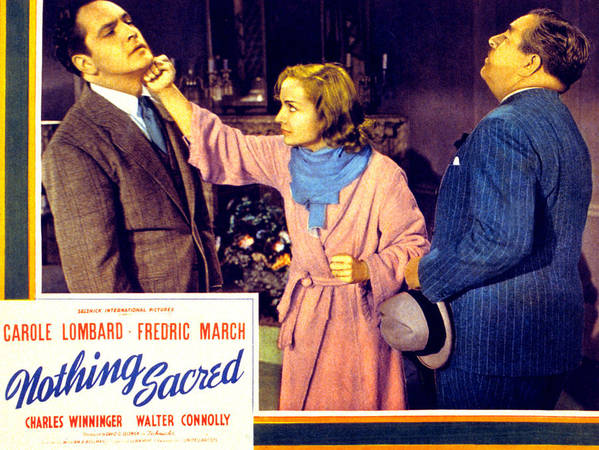 1930s Movies Print featuring the photograph Nothing Sacred, Fredric March, Carole by Everett