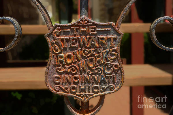 Iron Print featuring the photograph Old Rusty Gate by Michael Flood