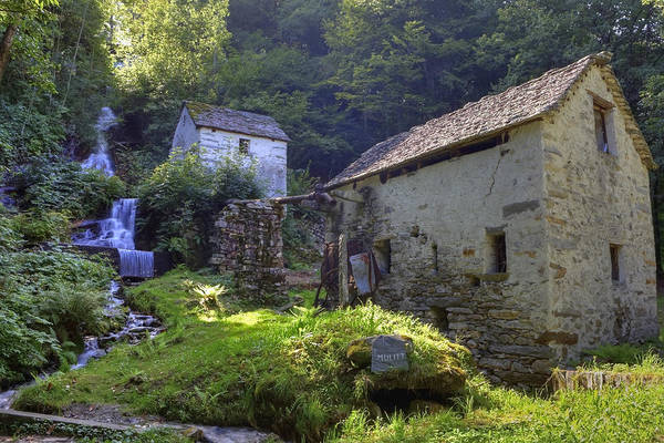 Moghegno Print featuring the photograph Old Watermill by Joana Kruse