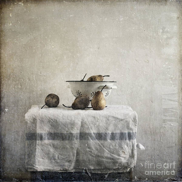 Pears Under Grunge Textures Print featuring the photograph Pears Under Grunge by Paul Grand