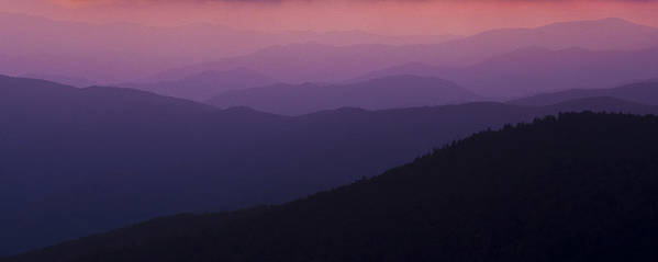 Mountains Print featuring the photograph Pink In Layers by Ryan Heffron