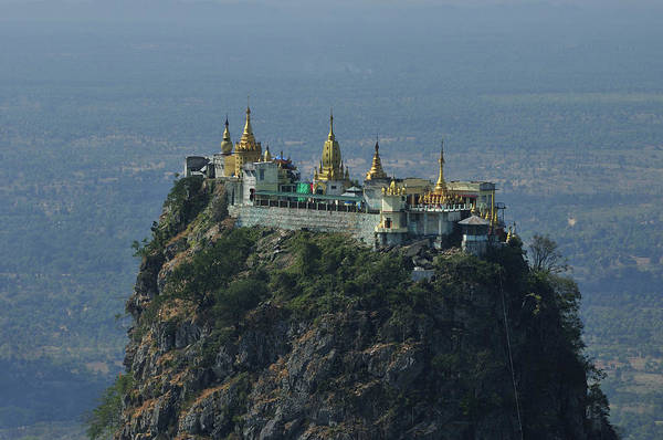 Horizontal Print featuring the photograph Popa Mountain Top Temple by Huang Xin