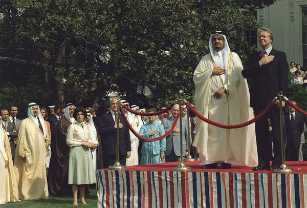 History Print featuring the photograph President Carter And Prince Fahd Bin by Everett