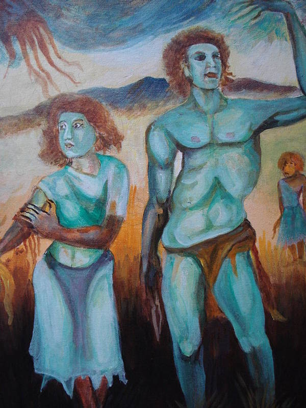 Mountain Print featuring the painting Princes And Zeus by Prasenjit Dhar