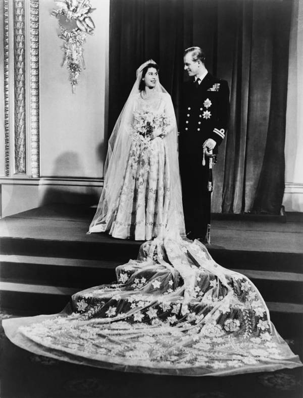 History Print featuring the photograph Princess Elizabeth And Prince Philip by Everett
