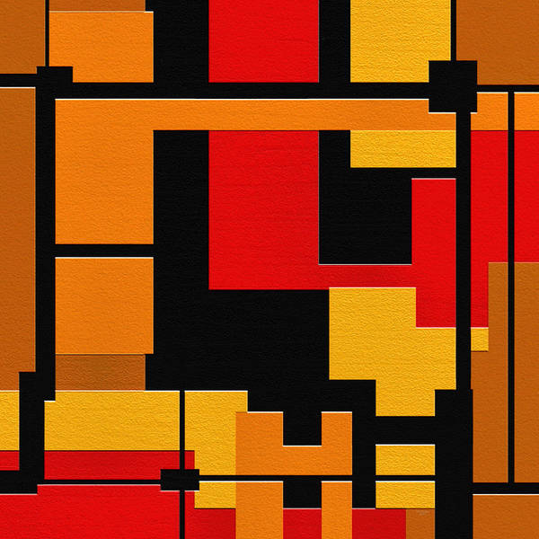 Abstract Art Print featuring the painting Progress by Ely Arsha