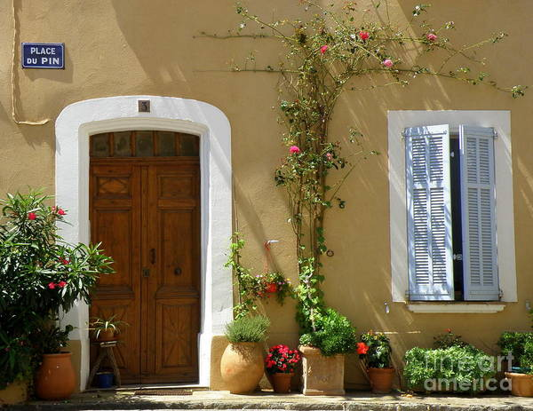 Provence Print featuring the photograph Provence Door 3 by Lainie Wrightson