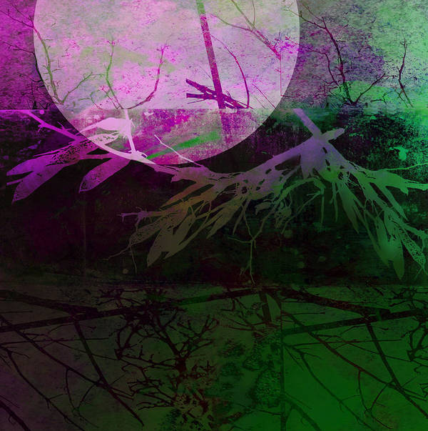 Moon Print featuring the photograph Purple Moon by Ann Powell