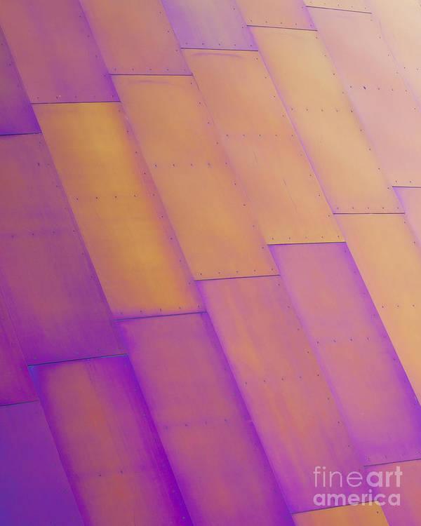 Purple Print featuring the photograph Purple Orange I by Chris Dutton