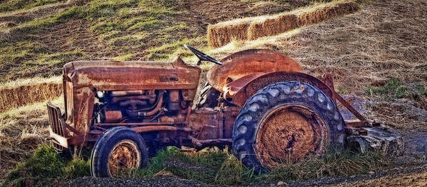 Tractor Print featuring the photograph Ready For Retirement by Kathy Jennings