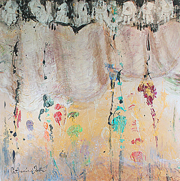 Painting Print featuring the mixed media Releasing Inner Cords by Catherine Foster