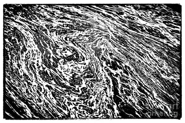 River Abstract Print featuring the photograph River Abstract by John Rizzuto