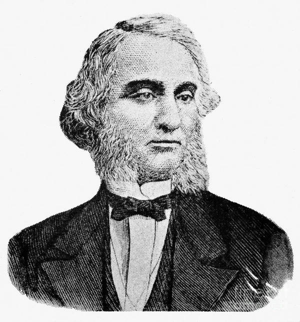19th Century Print featuring the photograph Robert Purvis (1810-1898) by Granger