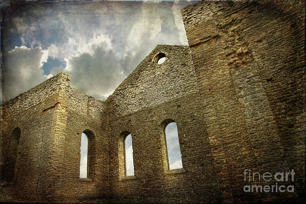 Architecture Print featuring the photograph Ruins Of A Church In Ontario by Sandra Cunningham