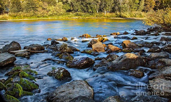 Idaho Print featuring the photograph Silk Water by Robert Bales