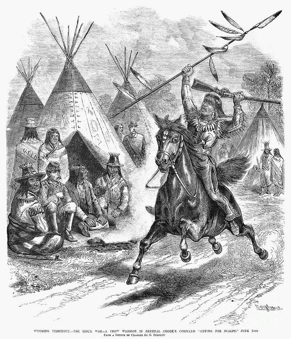 1876 Print featuring the photograph Sioux War, 1876 by Granger