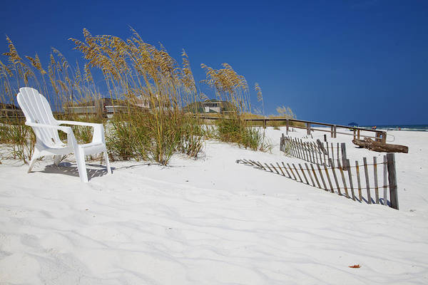 Beach Photograph Print featuring the photograph Sit And Enjoy by Toni Hopper